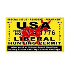 Liberal Hunt Permit Rectangle Car Magnet