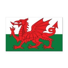 Wales Flag Rectangle Car Magnet