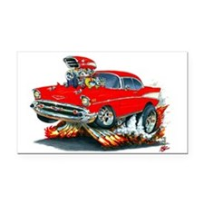 1957 Chevy Belair Red Car Rectangle Car Magnet