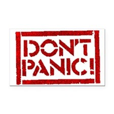Hitchhiker - Don't Panic! Rectangle Car Magnet