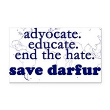 Save Darfur Rectangle Car Magnet
