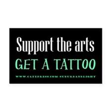 """Support The Arts"" Rectangle Car Magnet"