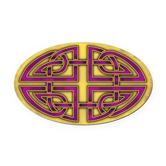 Celtic Purple Knotwork Oval Car Magnet