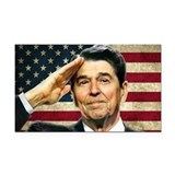Reagan Salute... Rectangle Car Magnet