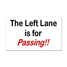 """The Left Lane is for Passing!!"" Rectangle Car Mag"
