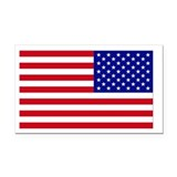 American Flag Reversed Rectangle Car Magnet