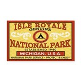 Isle Royale National Park Rectangle Car Magnet