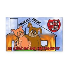 Pet Emergency Decal Rectangle Car Magnet