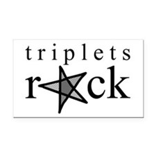 Triplets ROCK Rectangle Car Magnet