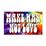 Make War Not Love Bumper Rectangle Car Magnet