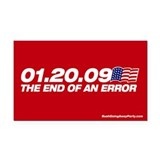 End of an error Rectangle Car Magnet