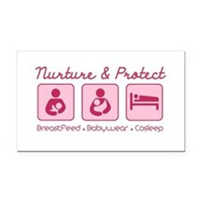 Funny Babywearing Rectangle Car Magnet