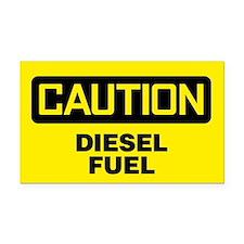 Caution: Diesel Fuel Rectangle Car Magnet