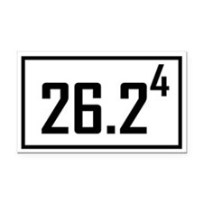 Marathon 4 Rectangle Car Magnet