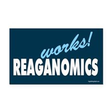 Reaganomics Works! Rectangle Car Magnet