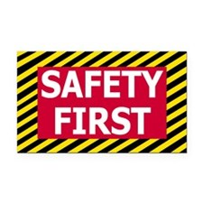 Safety First<BR> Rectangle Car Magnet