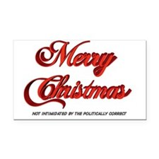 Merry Christmas 2 Rectangle Car Magnet