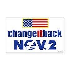 Change It Back! Rectangle Car Magnet