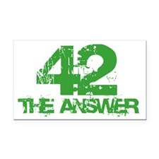 The Answer Is 42 Rectangle Car Magnet