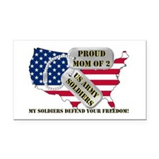 Proud Mom of 2 US Army Soldiers Rectangle Car Magn