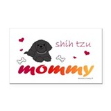 shih tzu Rectangle Car Magnet