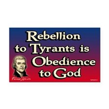 Rebellion to Tyrants Rectangle Car Magnet