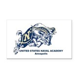 USNA Ram Rectangle Car Magnet