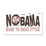 Nobama Anti-Obama Rectangle Car Magnet