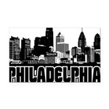 Philadelphia Skyline Rectangle Car Magnet