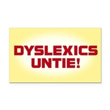 DYSLEXICS UNTIE Rectangle Car Magnet
