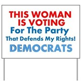 Women Voting Democrats Lawn Sign