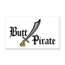 Butt Pirate Rectangle Car Magnet