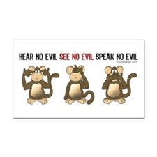 Hear No Evil... Rectangle Car Magnet