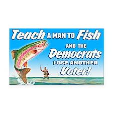 Teach a Man to Fish Rectangle Car Magnet
