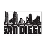 San Diego Skyline Rectangle Car Magnet