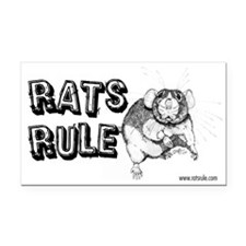 Rats Rule Dumbo Rectangle Car Magnet