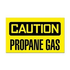 Caution: Propane Gas Rectangle Car Magnet