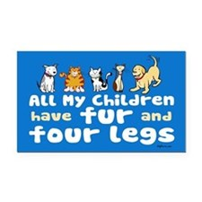 All My Fur Children Rectangle Car Magnet