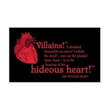 Telltale Heart Rectangle Car Magnet