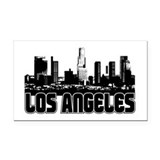 Los Angeles Skyline Rectangle Car Magnet