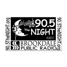 90.5 The NIGHT Rectangle Car Magnet
