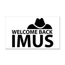 Welcome Back Imus Rectangle Car Magnet
