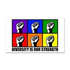 """Diversity"" Rectangle Car Magnet"