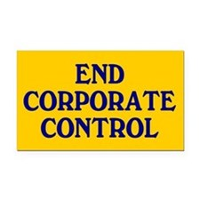 corporate control... Rectangle Car Magnet