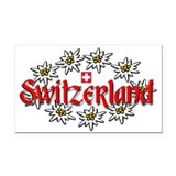Swiss Edelweiss Rectangle Car Magnet