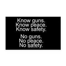 Know Guns Rectangle Car Magnet