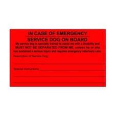 Service Dog on Board In case of Emergency Rectangl