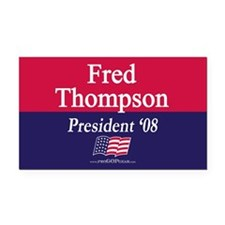 """Fred Thompson for President"" Rectangle Car Magnet"