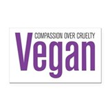 Vegan Compassion Over Cruelty Rectangle Car Magnet