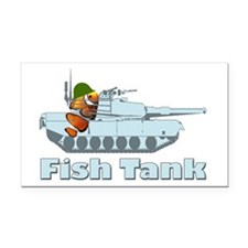 Fish Tank Rectangle Car Magnet